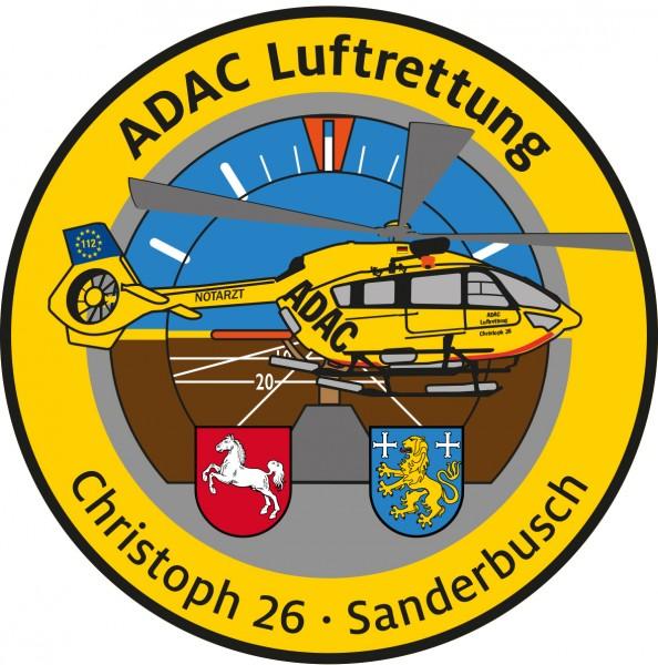 ADAC Luftrettung Fanpatch Christoph 26-Sanderbusch