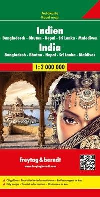 F&B Autokarte Indien