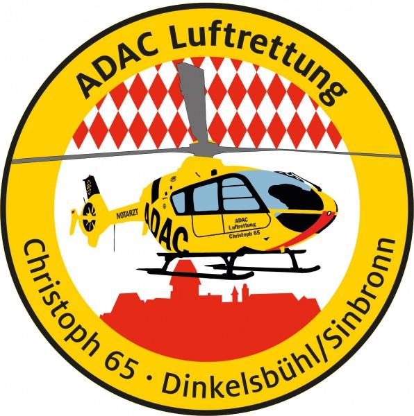 ADAC Luftrettung Fanpatch Christoph 65-Dinkelsbühl