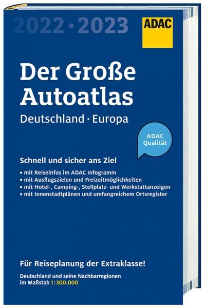 Großer ADAC AutoAtlas Deutschland/Europa 2022/2023