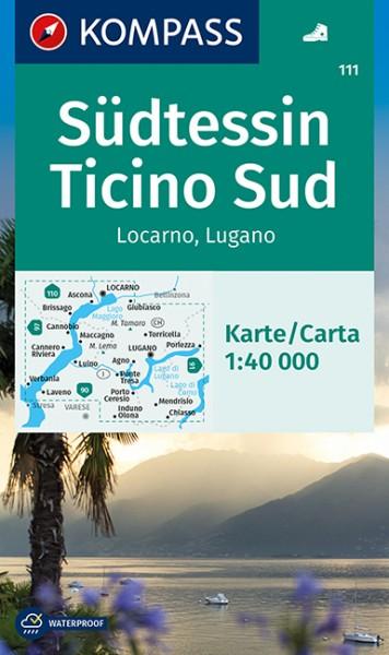 KOMPASS Wanderkarte Südtessin, Locarno, Lugano
