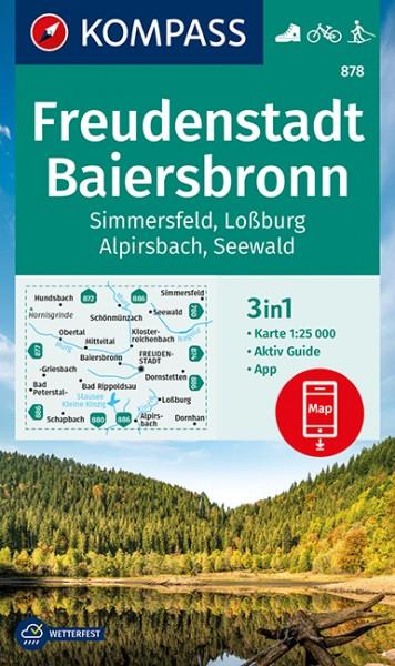 KOMPASS Wanderkarte Freudenstadt, Baiersbronn