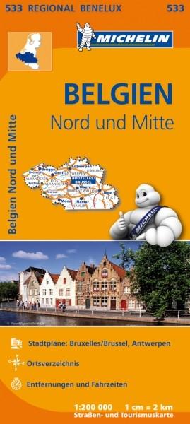 Michelin Regionalkarte Belgien Nord und Mitte