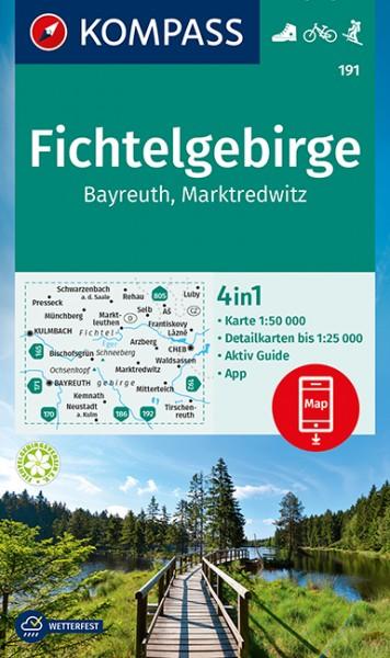 KOMPASS Wanderkarte Fichtelgebirge, Bayreuth