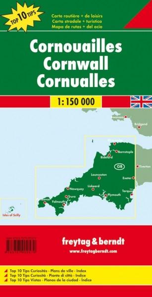 F&B Autokarte + Freizeitkarte Cornwall