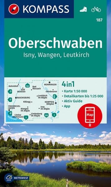 KOMPASS Wanderkarte Oberschwaben, Isny, Leutkirch