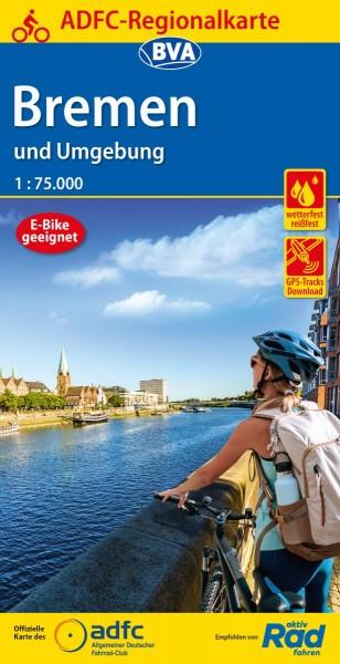 ADFC Regionalkarte Bremen und Umgebung