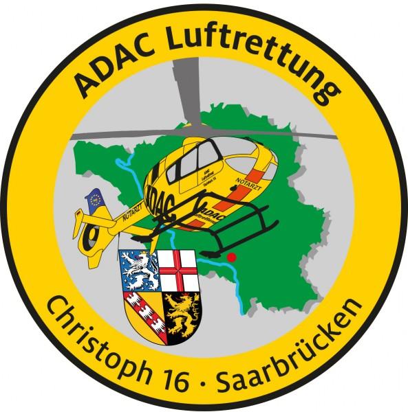 ADAC Luftrettung Fanpatch Christoph 16-Saarbrücken