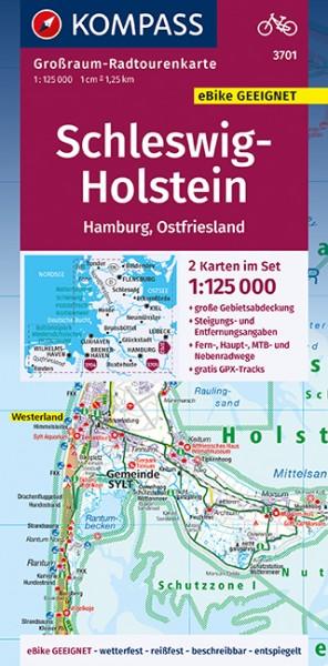 KOMPASS Karte Schleswig-Holstein, Hamburg