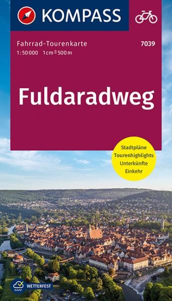 KOMPASS FahrradTourenkarte Fuldaradweg