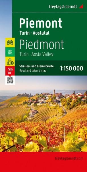 F&B Straßen- und Freizeitkarte Piemont