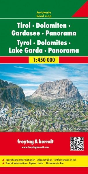 F&B Autokarte Tirol-Dolomiten