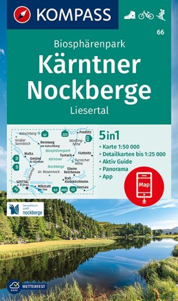 KOMPASS Wanderkarte Biosphärenpark Kärntner Nockb.