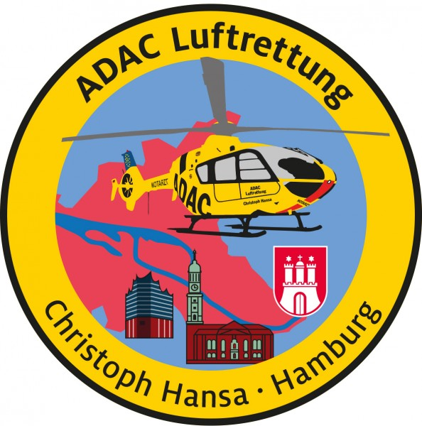 ADAC Luftrettung Fanpatch Christoph Hansa-Hamburg