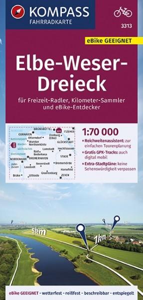 KOMPASS Fahrradkarte Elbe-Weser-Dreieck