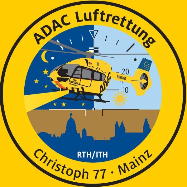 ADAC Luftrettung Fanpatch Christoph 77 Mainz