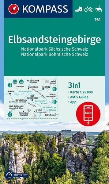 KOMPASS Wanderkarte Elbsandsteingebirge