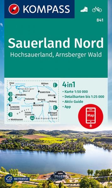 KOMPASS Wanderkarte Sauerland 1, Hochsauerland