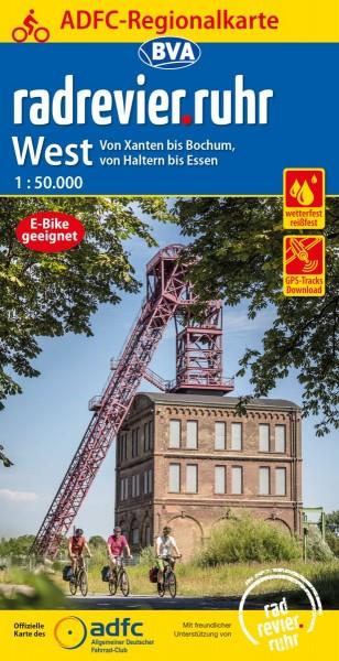 ADFC Regionalkarte radrevier.ruhr West