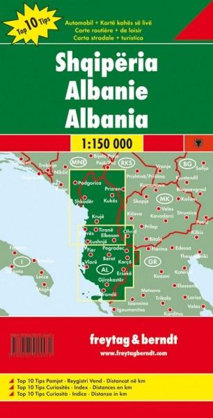 F&B Autokarte Albanien