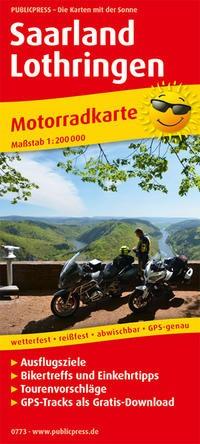 Motorradkarte Saarland - Lothringen