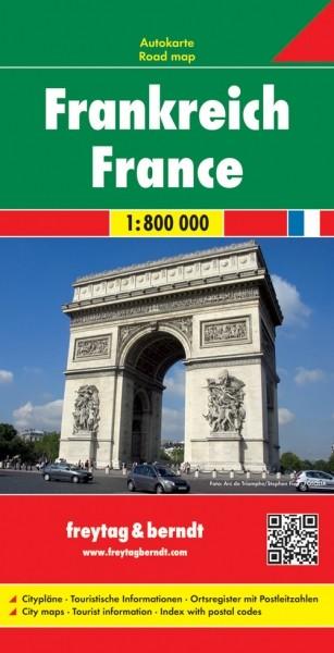 F&B Autokarte Frankreich