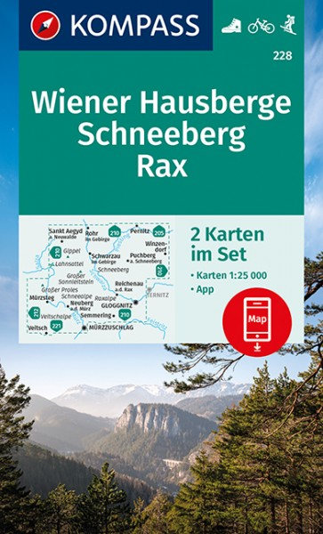 KOMPASS Wanderkarte Wiener Hausberge, Schneeberg
