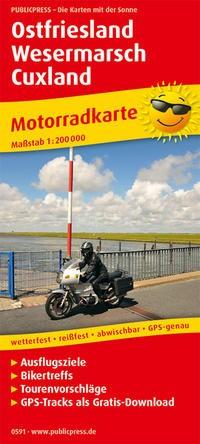 Motorradkarte Ostfriesland - Wesermarsch - Cuxland