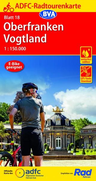ADFC-Radtourenkarte 18 Oberfranken / Vogtland