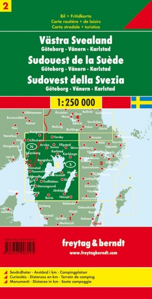 F&B Autokarte Schweden Südwest