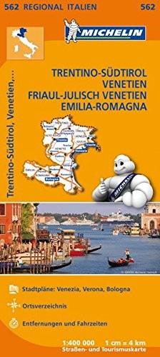 Michelin Regionalkarte Trentino-Südtirol, Venetien