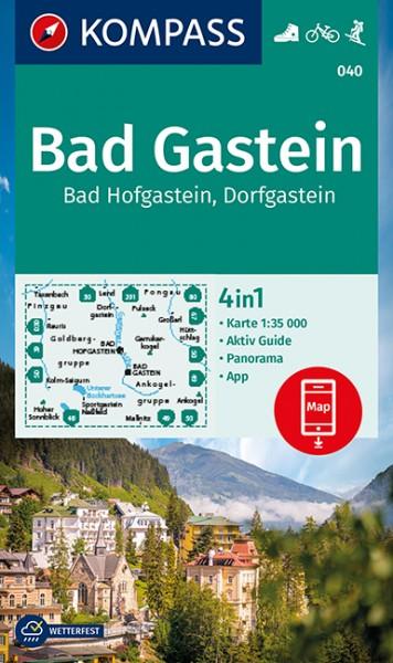 KOMPASS Wanderkarte Badgastein/Hofgastein