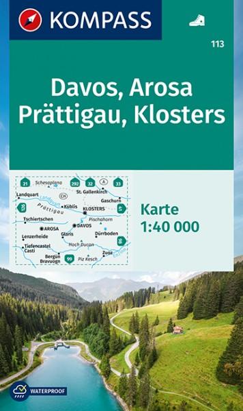 KOMPASS Wanderkarte Davos, Arosa, Prättigau