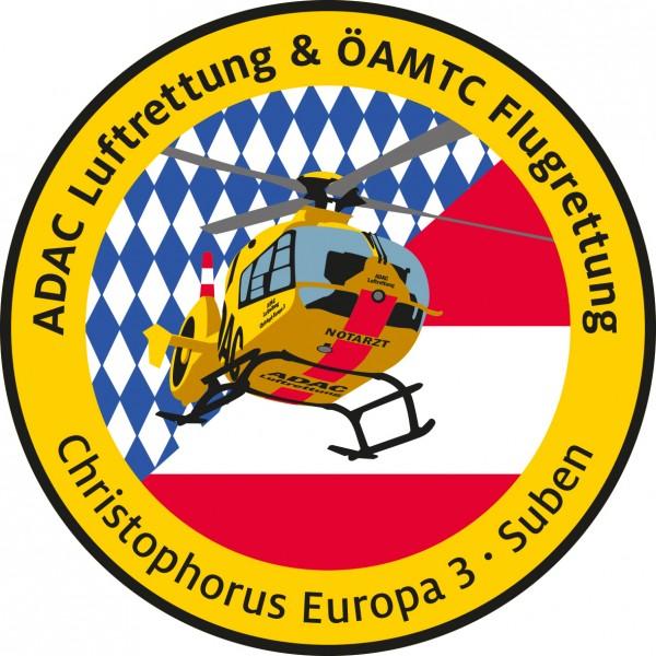 ADAC Luftrettung Fanpatch Christoph Europa 3-Suben