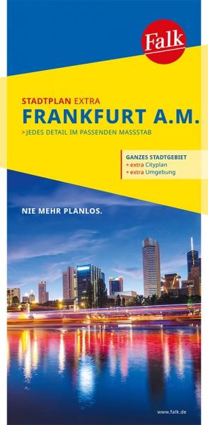 Falk Stadtplan Extra Standardfaltung Frankfurt