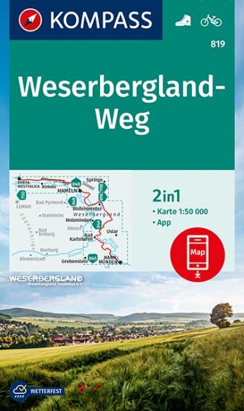 KOMPASS WK Weserbergland-Weg