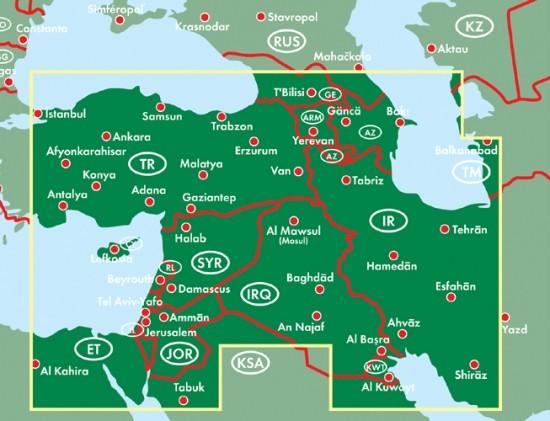F&B Autokarte Naher Osten