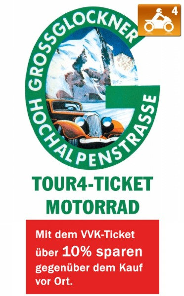 Großglockner Ticket Motorrad - 4 Touren