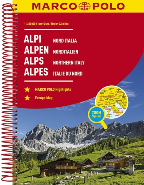 MP Reiseatlas Alpen/Nordital.