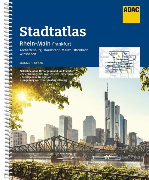 ADAC Stadtatlas Rhein-Main, Frankfurt 1:20000