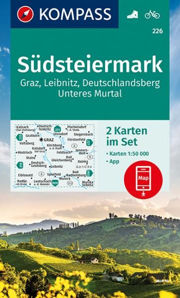 KOMPASS Wanderkarte Südsteiermark, Graz, Leibnitz