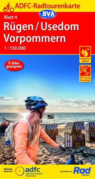ADFC-Radtourenkarte 4 Rügen/Usedom Vorpommern