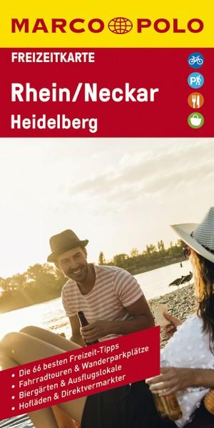 MARCO POLO Freizeitkarte Rhein/Neckar/Heidelberg