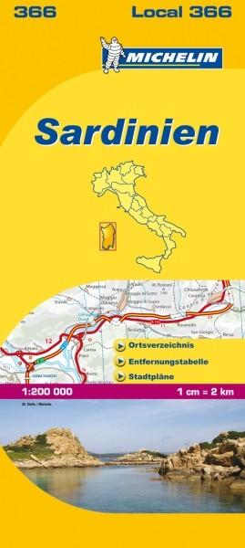Michelin Lokalkarte Sardinien