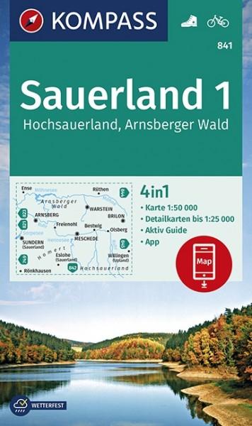 Kompass Wanderkarte Hochsauerland