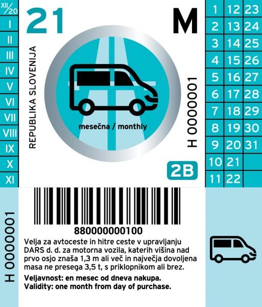 Slowenien Vignette PKW - 1 Monat