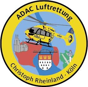 ADAC Luftrettung Fanpatch Christoph Rheinland-Köln