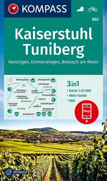 Kompass Wanderkarte Kaiserstuhl