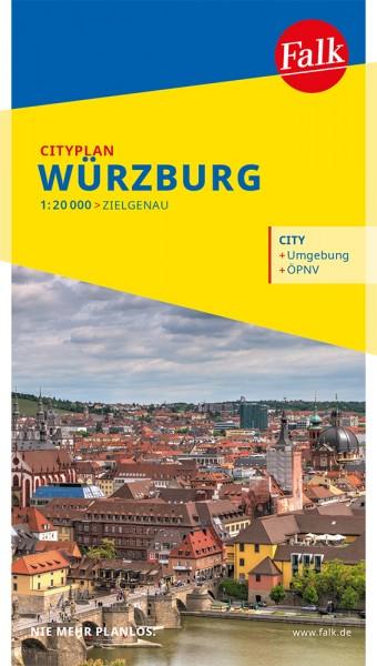 Falk Cityplan Würzburg