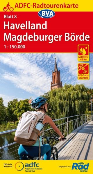 ADFC-Radtourenkarte 8 Havelland/Magdeburger Börde